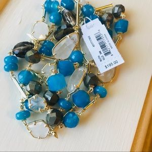 Kendra Scott Ruth Necklace in Teal Mix